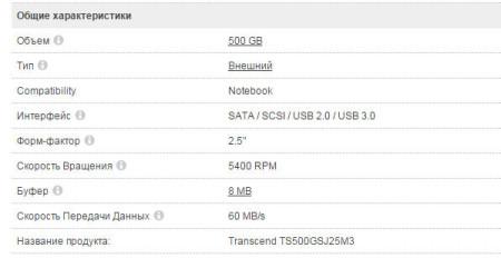 Transcend TS500GSJ25M3