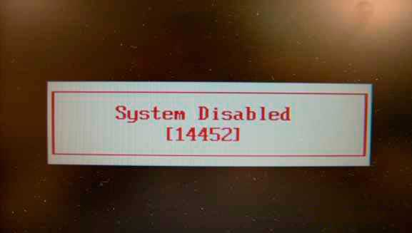 System disabled