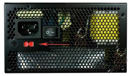 Блок питания с переключателем 127 и 220В