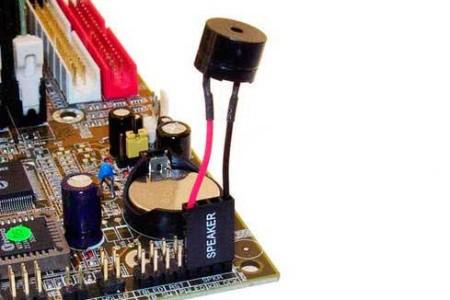 подключить к разъемам Speaker на системной плате
