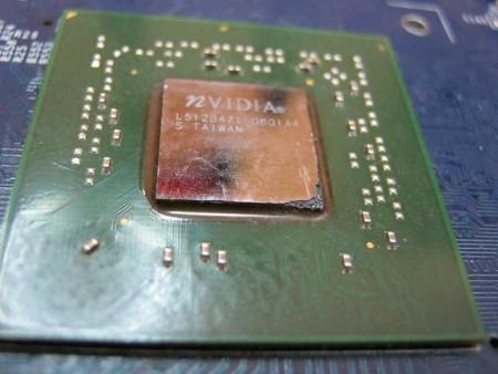 Как выглядят сгоревший видео чипы