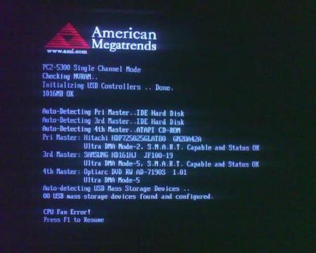 Ошибка BIOS