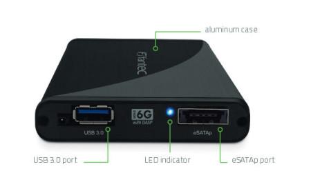 FANTEC 225U3eSATAp 1TB 2,5 USB 3.0 eSATAp